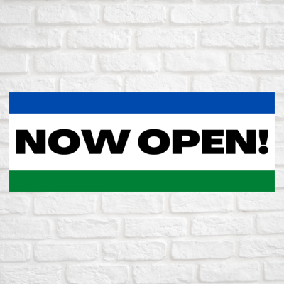 Now Open! Blue/Green
