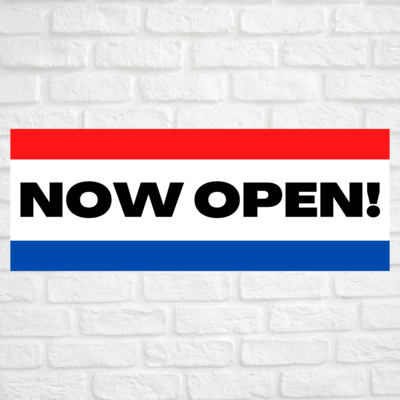 Now Open! Red/Blue