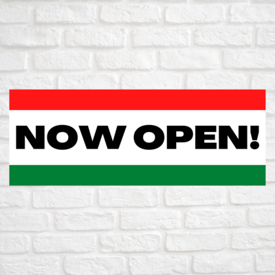 Now Open! Red/Green