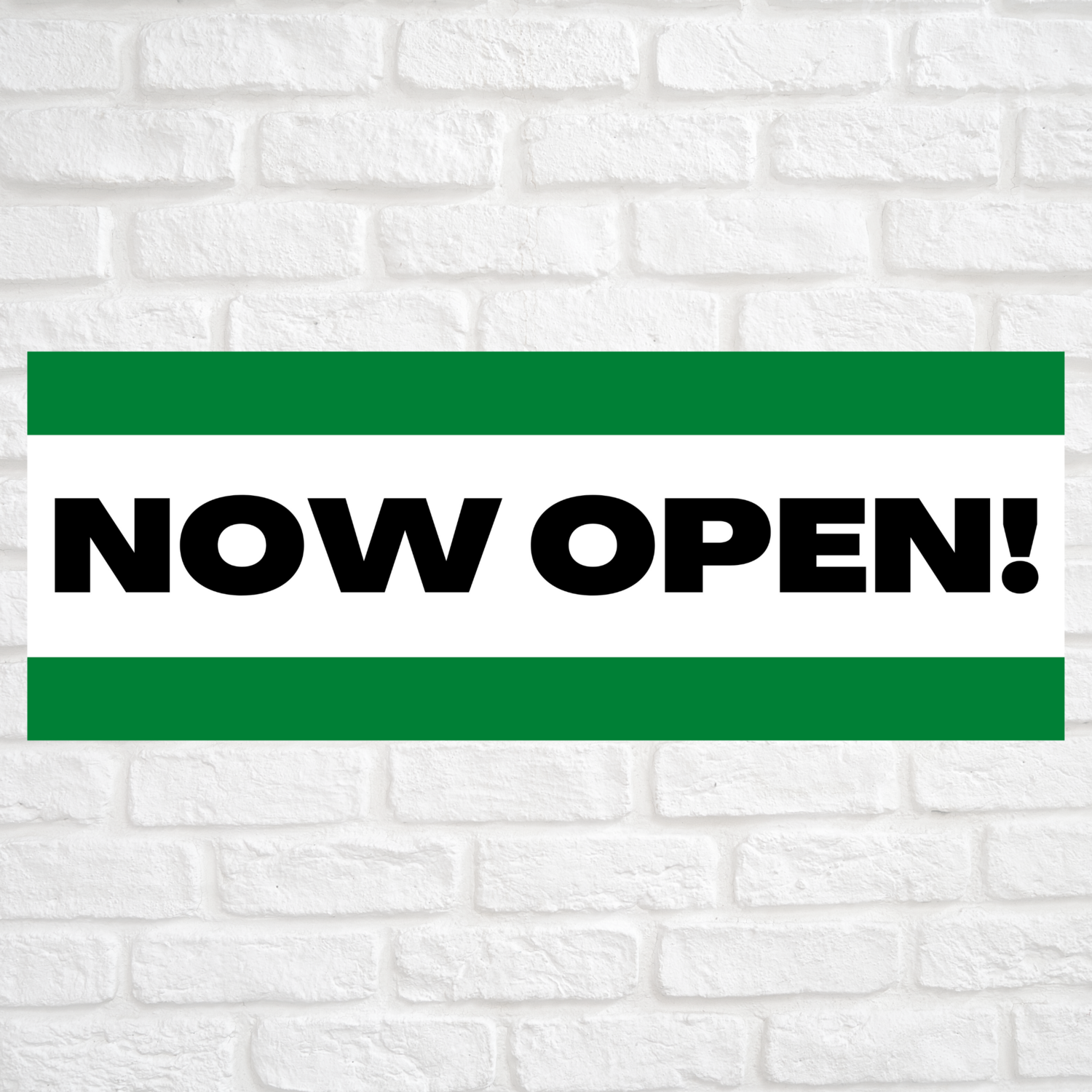 Now Open! Green/Green