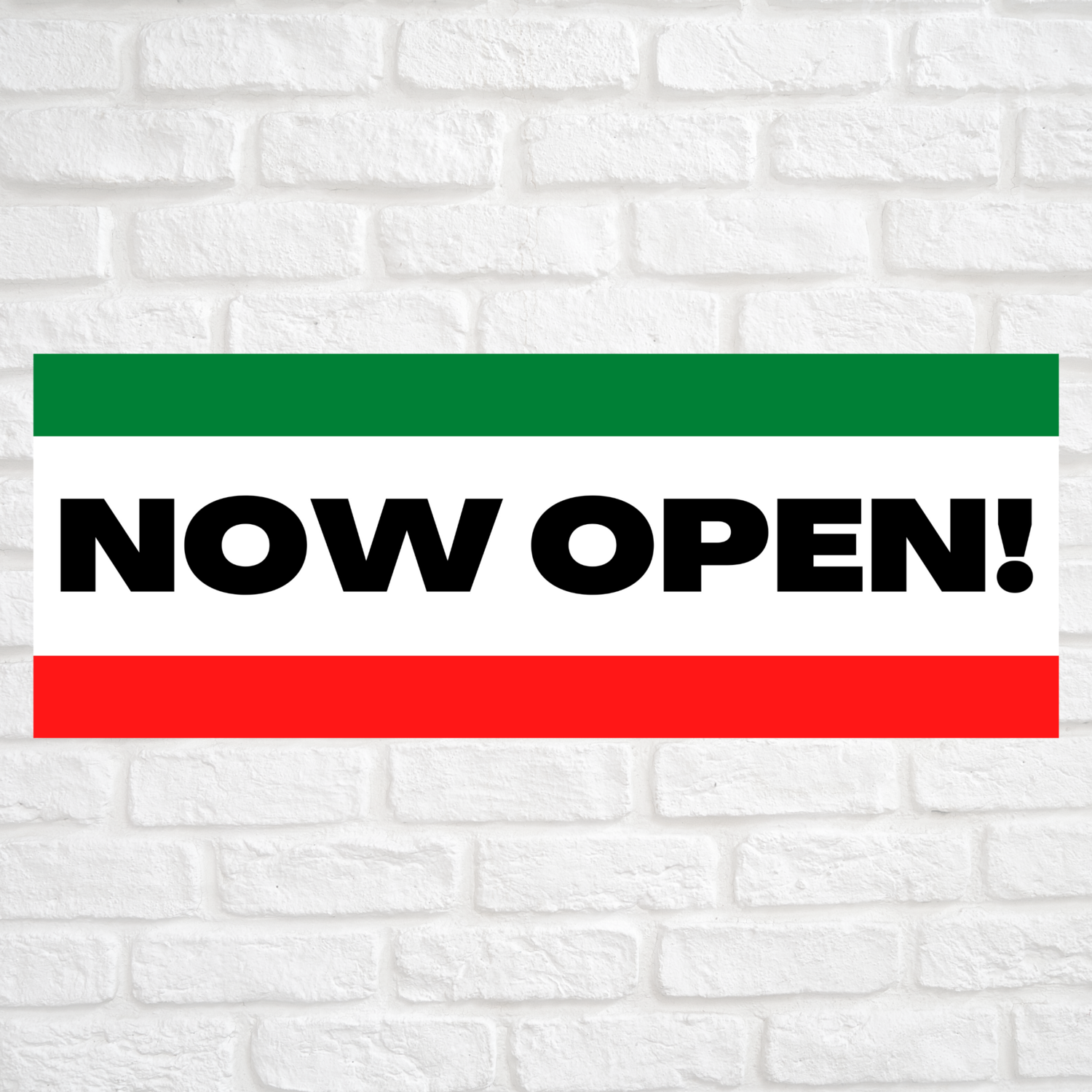 Now Open! Green/Red