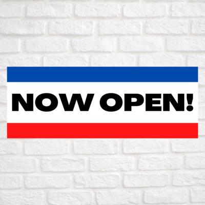 Now Open! Blue/Red
