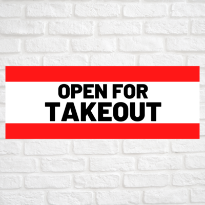 Open For Takeout Red/Red