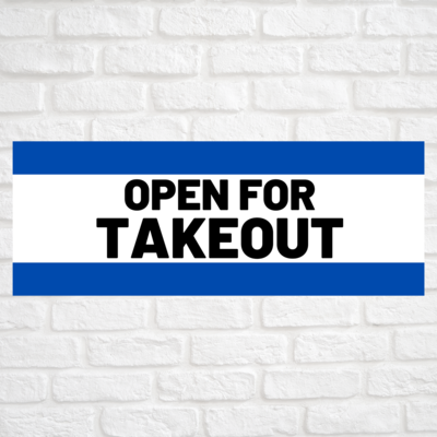 Open For Takeout Blue/Blue
