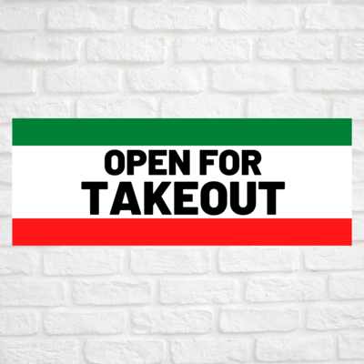 Open For Takeout Green/Red