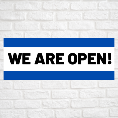 We Are Open Blue/Blue