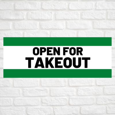 Open For Takeout Green/Green