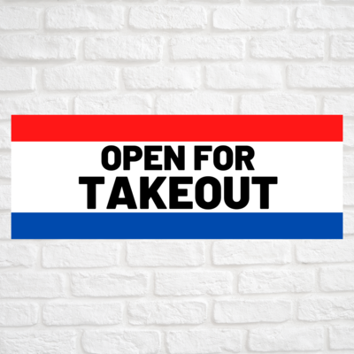 Open For Takeout Red/Blue
