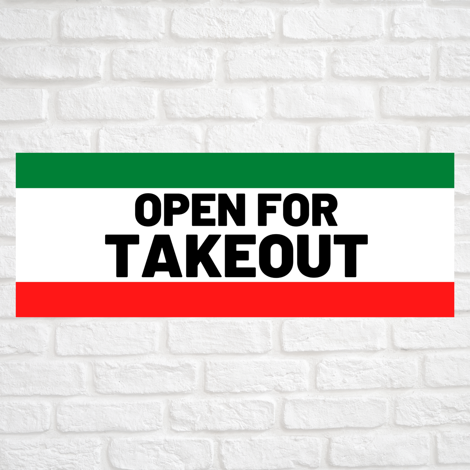 Open For Takeout Red/Green