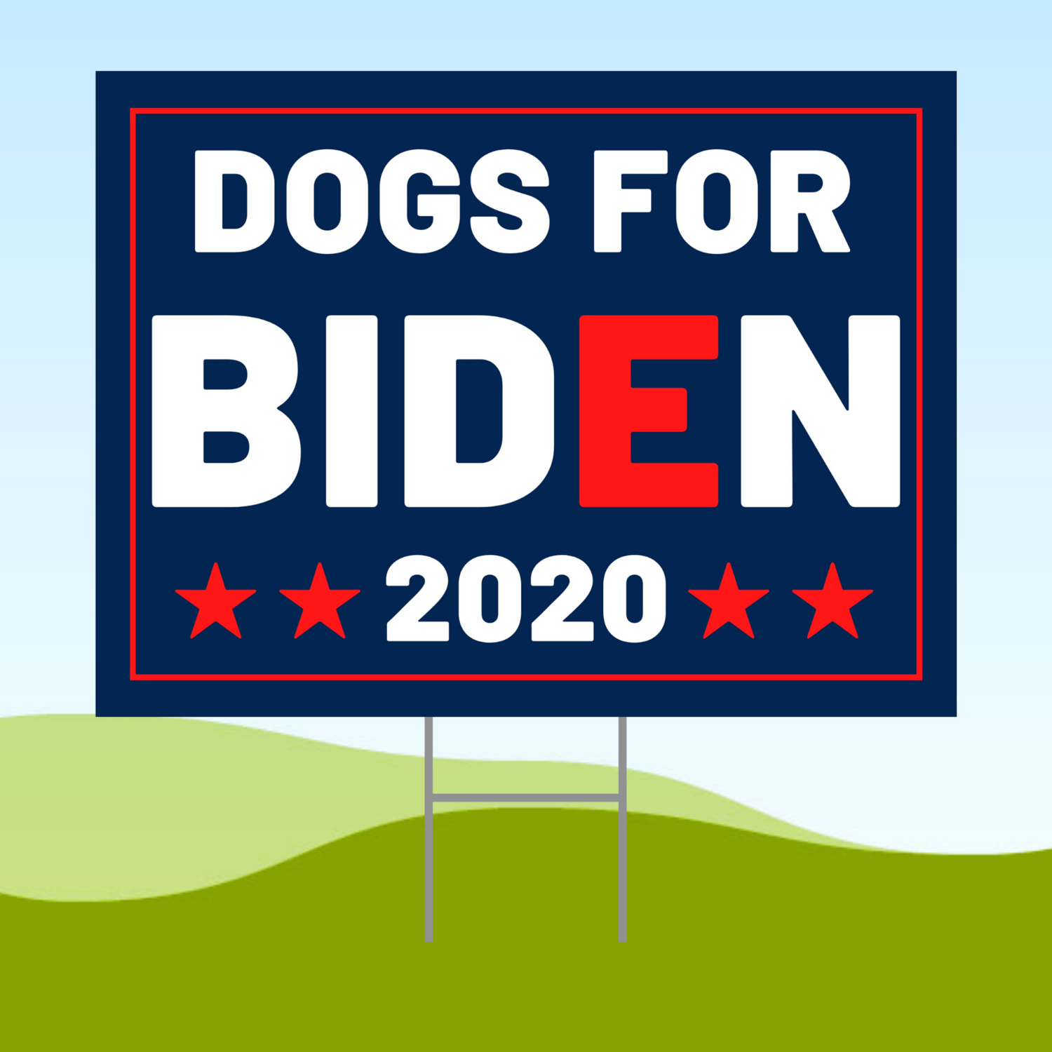 Dogs For Biden Yard Sign 18x24 Corrugated Plastic Bandit 1-sided WATERPROOF Lawn WITH STAKE