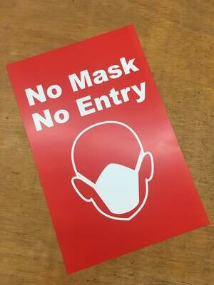 No Mask No Entry Red 11x17 Window Poster Rally Sign Business