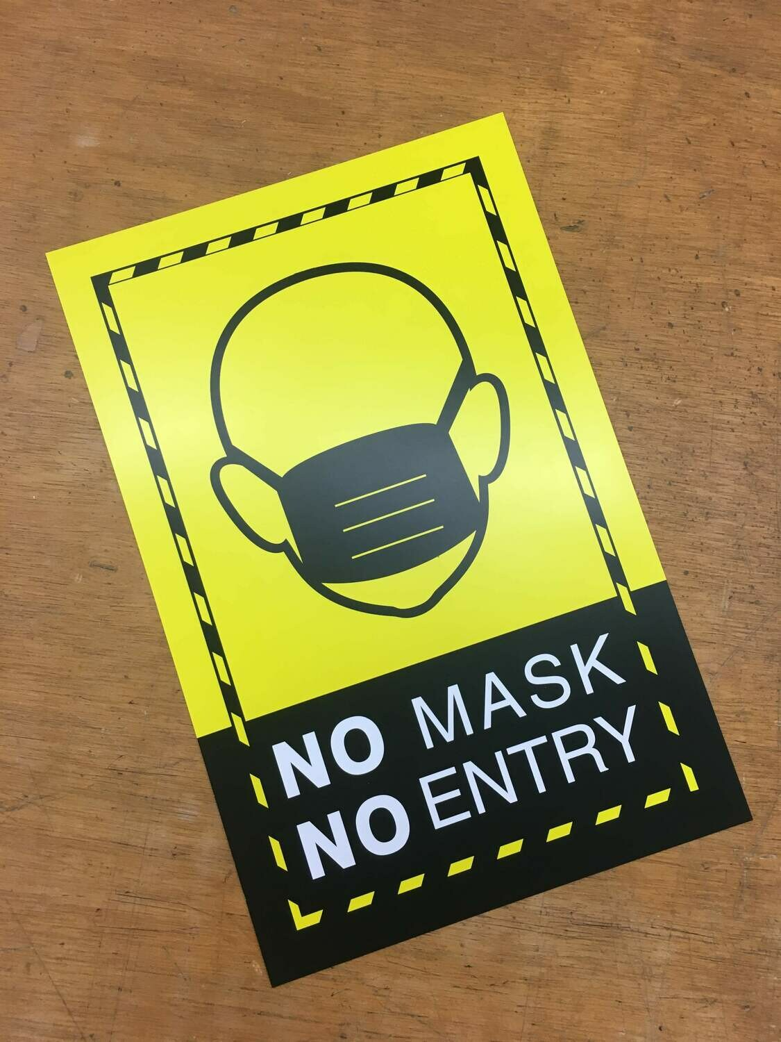 No Mask No Entry Yellow3 11x17 Window Poster Rally Sign Business