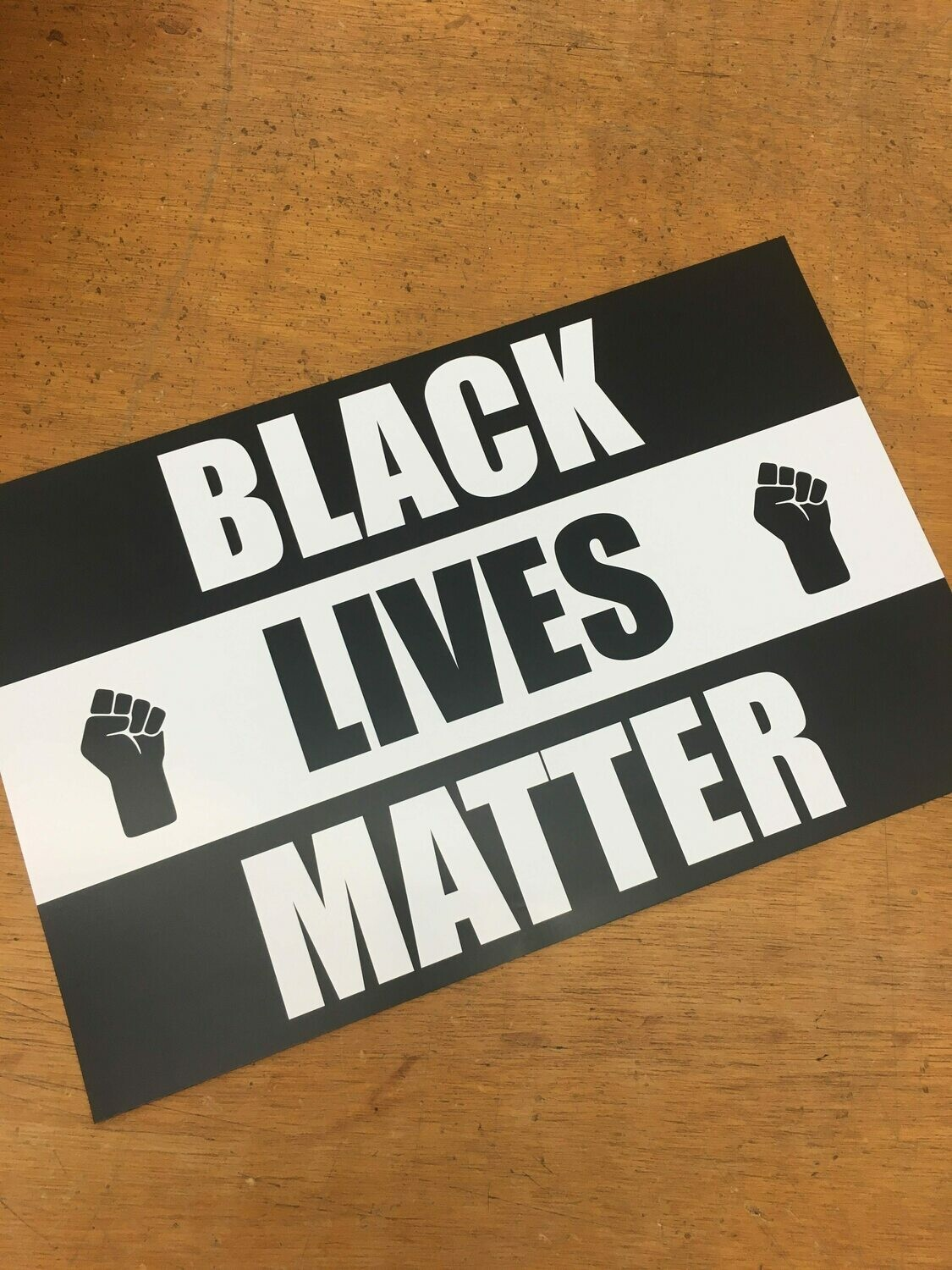 Black Lives Matter 11x17 Window Poster Rally Sign Protest