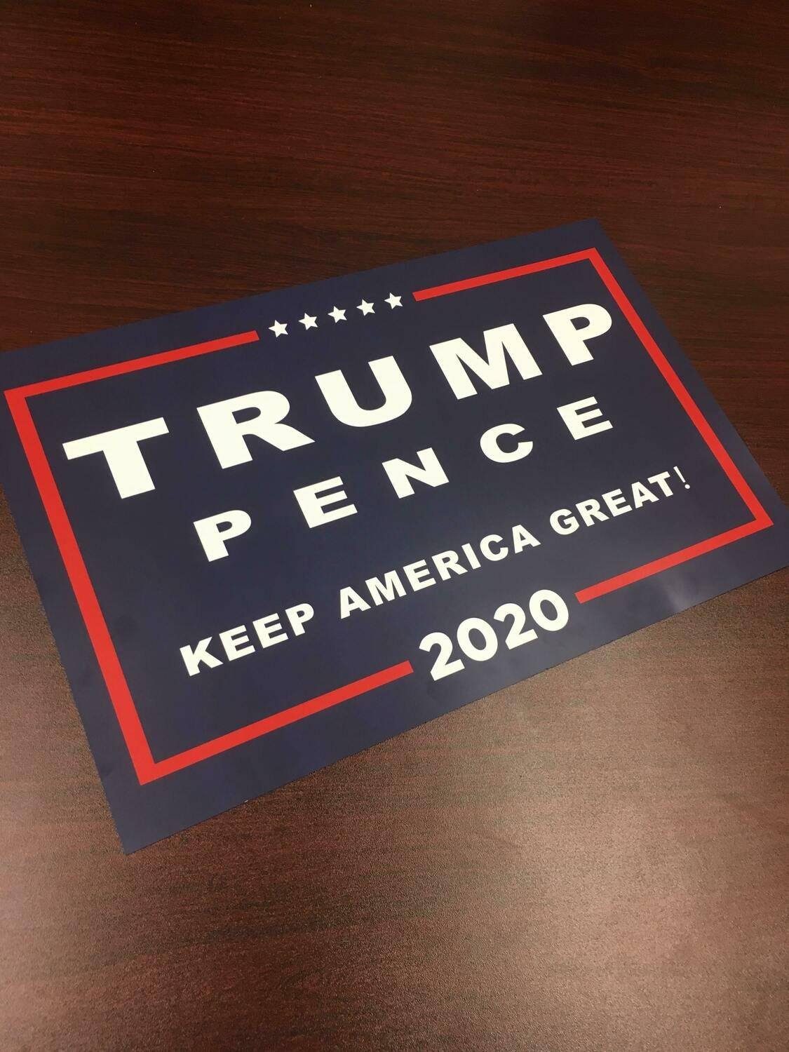 Trump Pence Keep America Great 2020 11x17 Window Poster Rally Sign Dark Blue