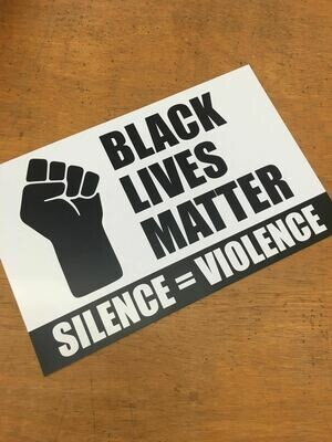 Black Lives Matter Fist 11x17 Window Poster Rally Sign Protest