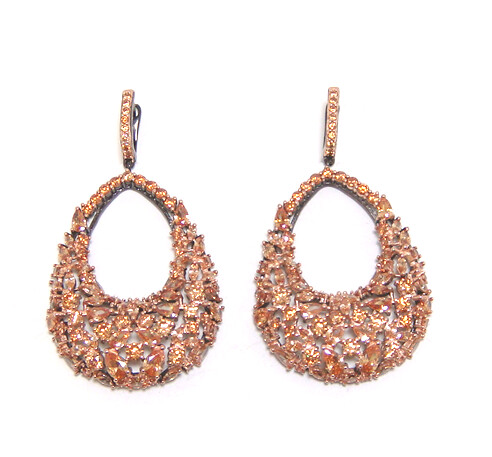 Details about  /925 Sterling Silver Diamond Cut Multi-Sized Oval Shaped Drop Earrings