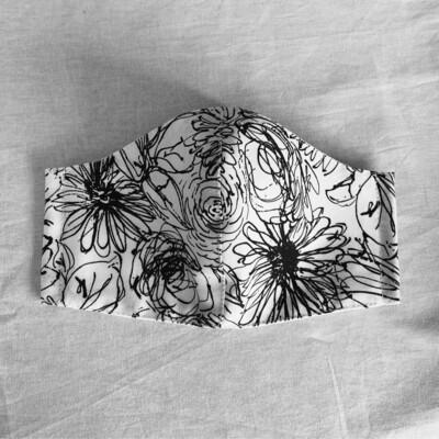 Mono Floral Scribble