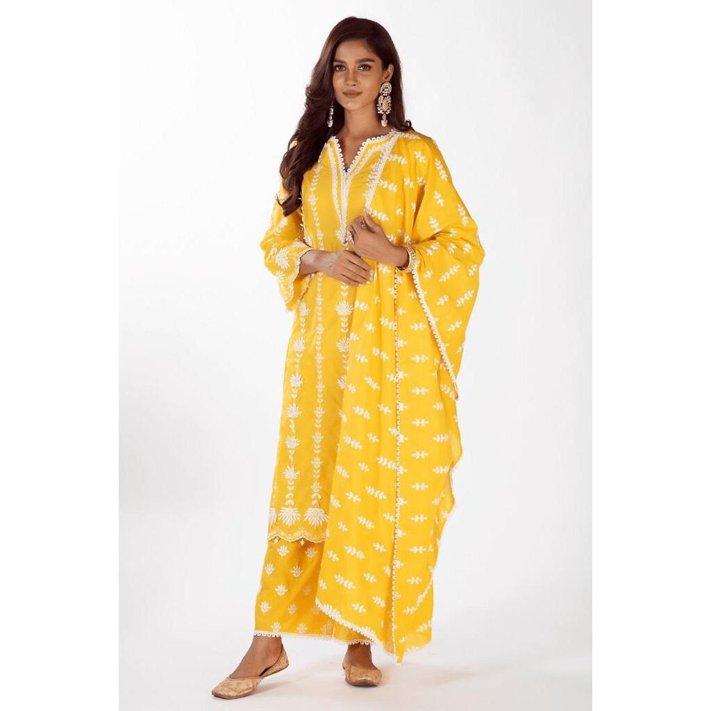 Mulmul Cotton Zaira Yellow (M)