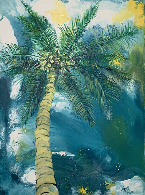 By the Palm Tree print