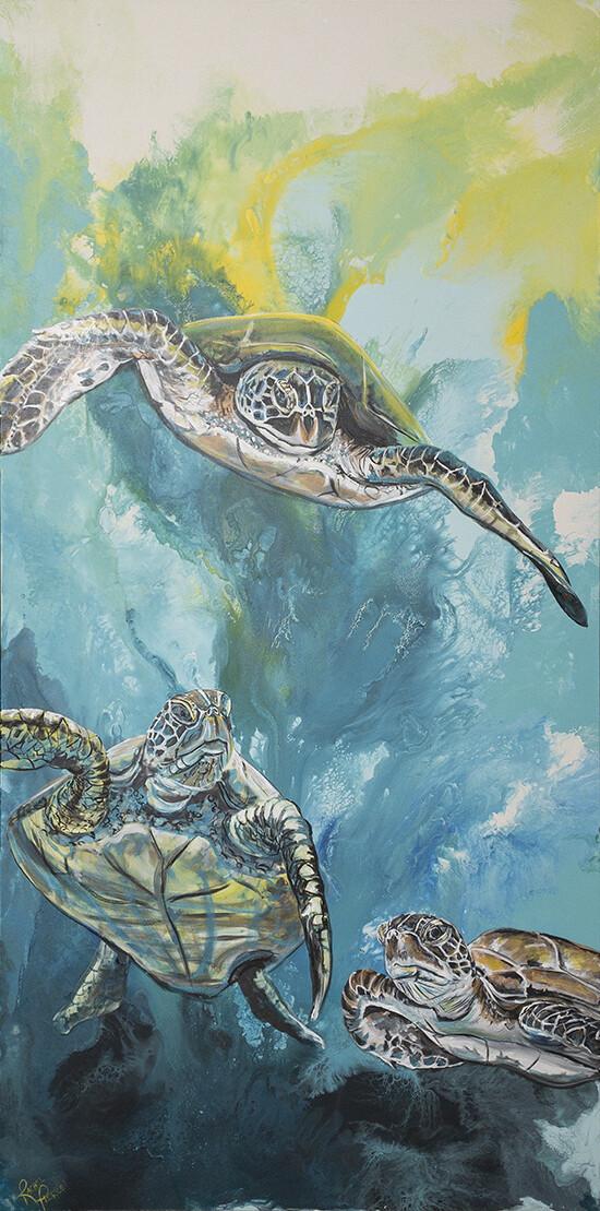 Sea by Three print