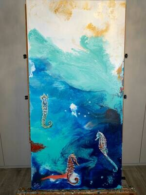 Colorful Waters for Colorful Seahorses