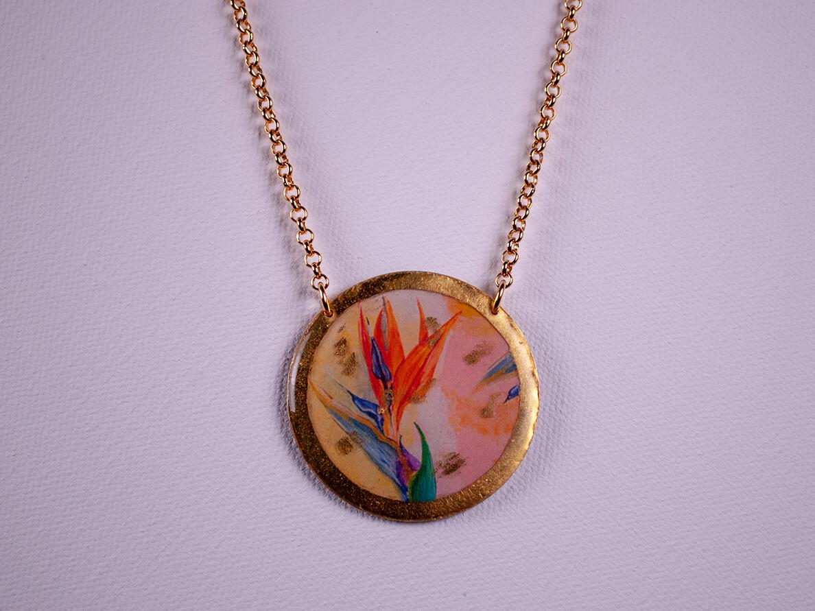 Bird of Paradise Gold Necklace