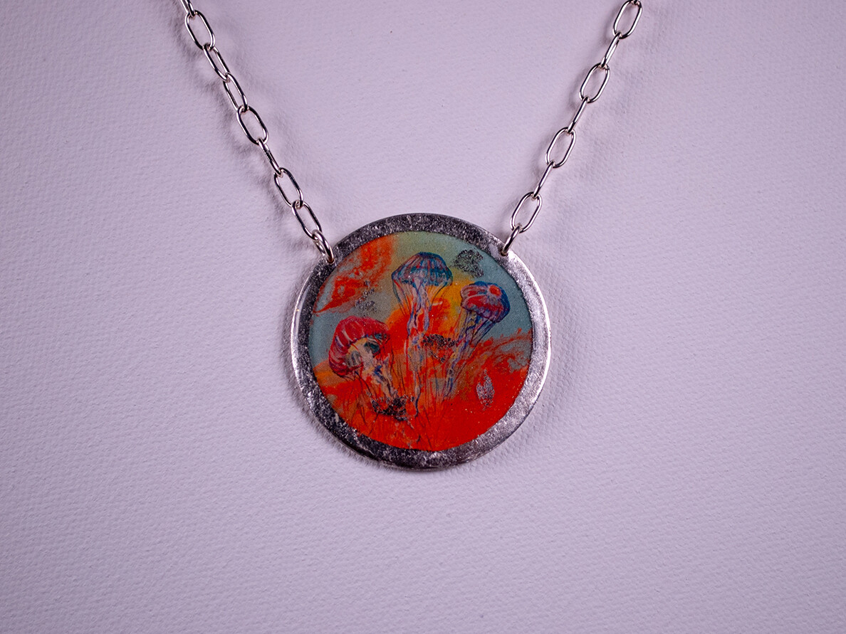 Hot Jellies Silver Necklace