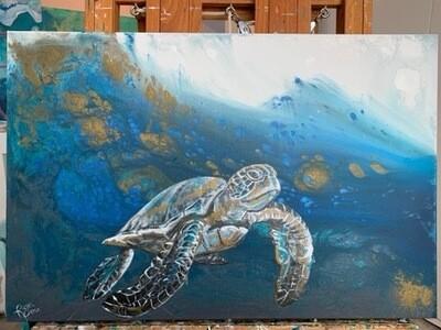 Deep Water Sea Turtle