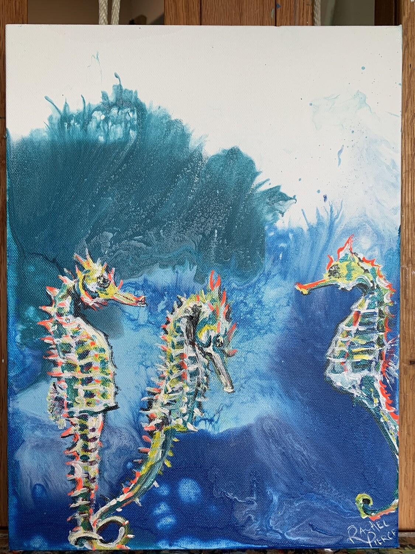 Three Seahorses