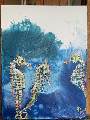 Three Seahorses