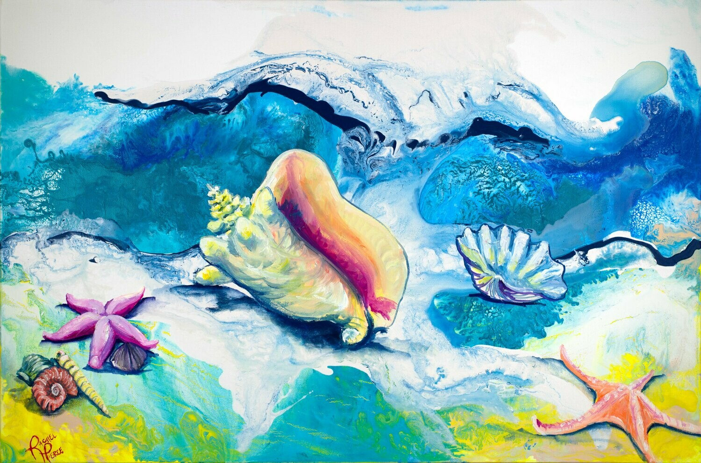 Shells on the Shore print