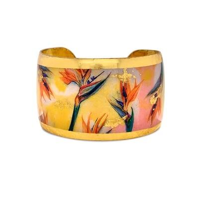 Birds of Paradise Gold Cuff