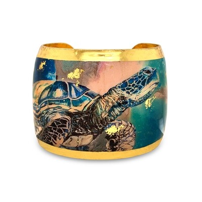 Single Turtle Gold Cuff