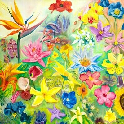 Florida Flowers print