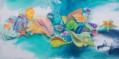 Rainbow Shells print