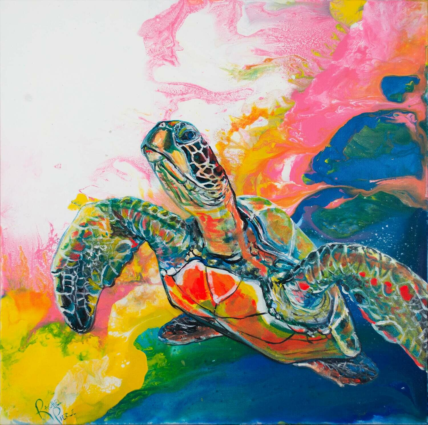 Electric Space Turtle 2 print
