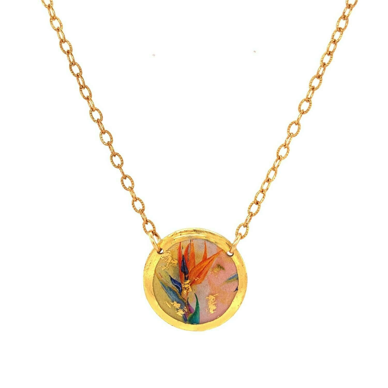 Bird of Paradise Gold Mini-Necklace