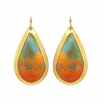 Abstract Hot Jellies Gold Earrings