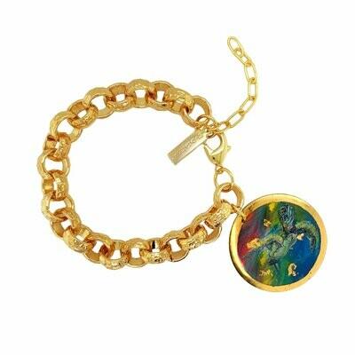 Technicolor Sea Turtle Charm Bracelet