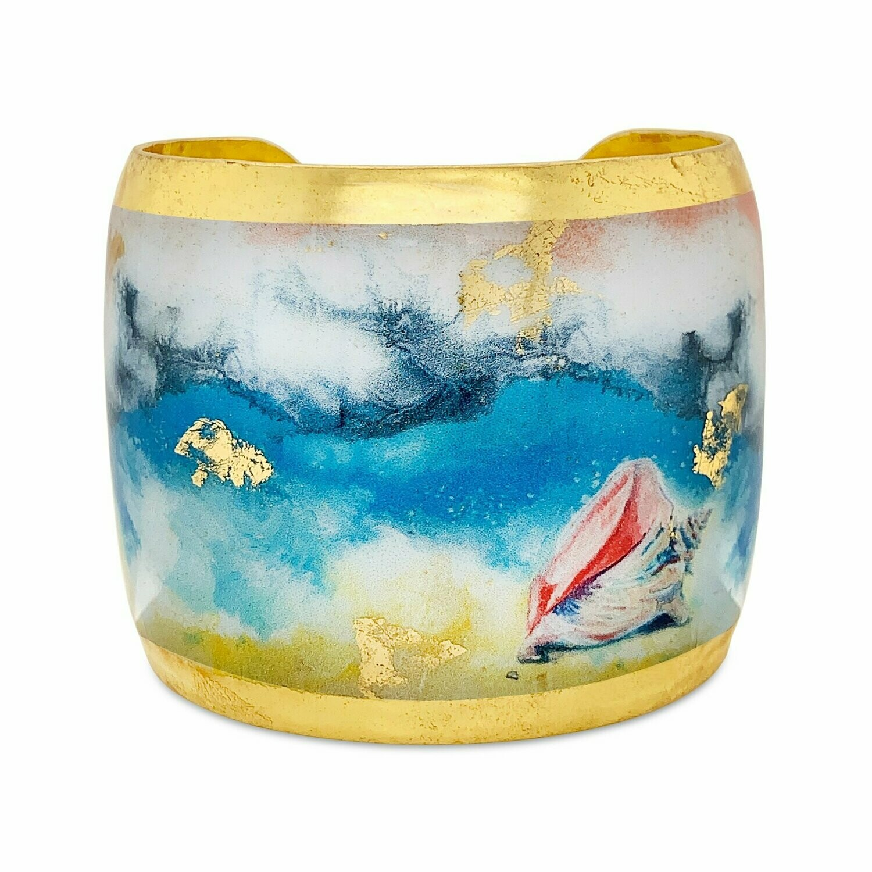 Beach Conch Gold Cuff