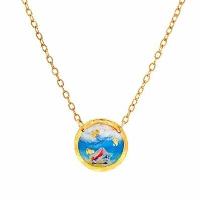 Beach Conch Gold Mini Necklace