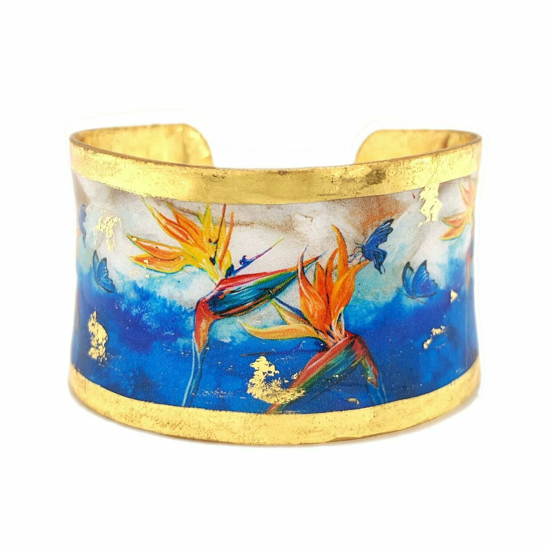 Blue Paradise Gold Corset Cuff