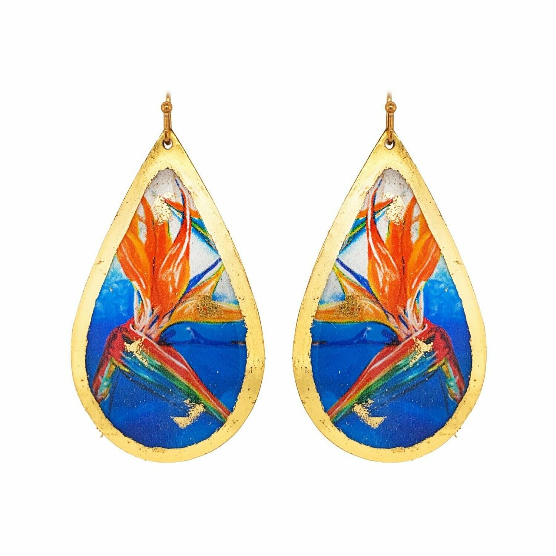 Blue Paradise Gold Earrings