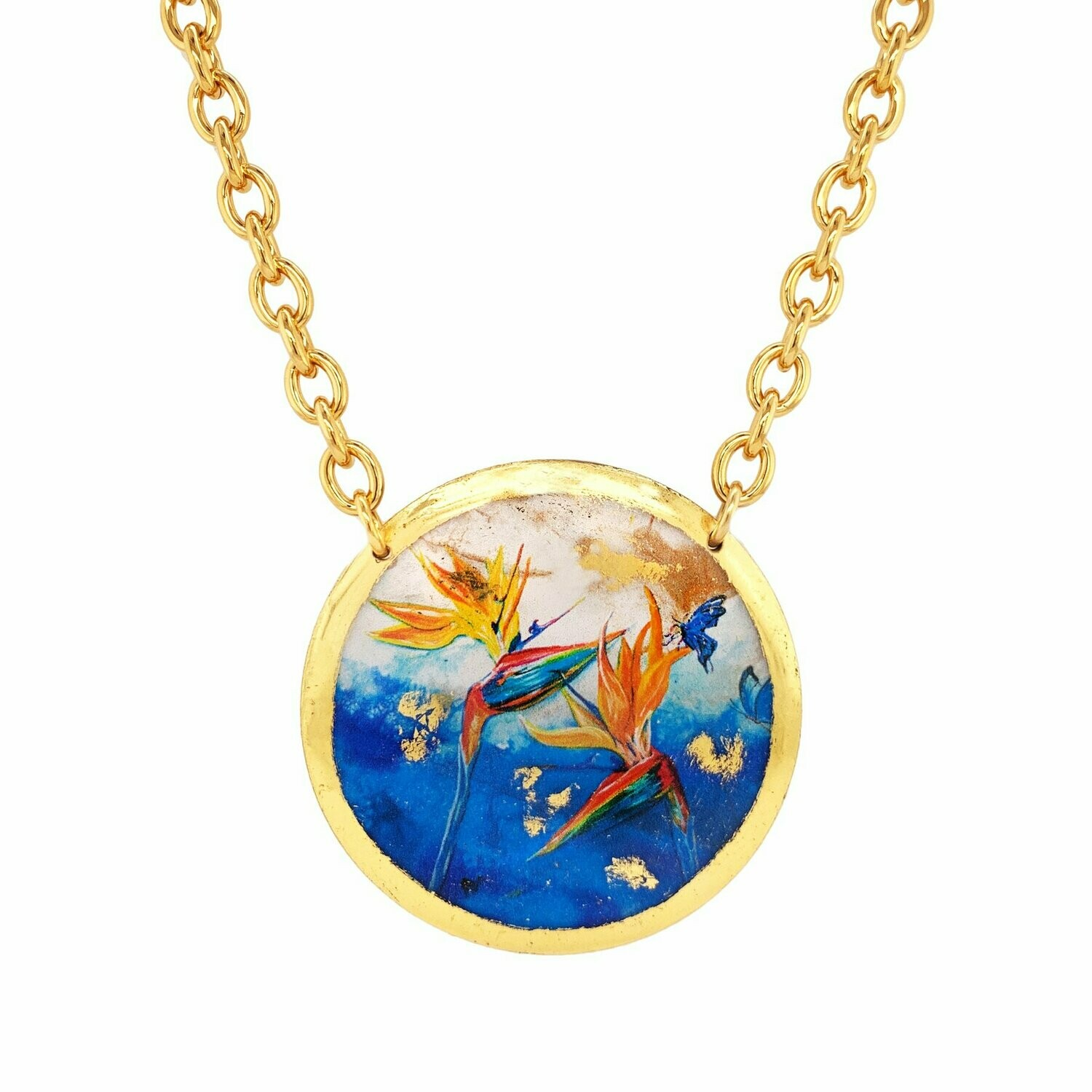 Blue Paradise Gold Necklace