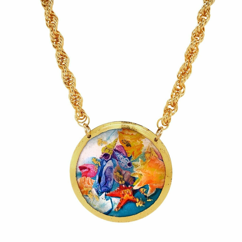 Rainbow Shells Gold Necklace