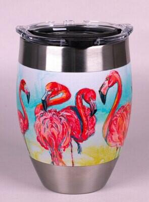 Flamingos Stainless Steel Tervis Tumbler 12 oz.