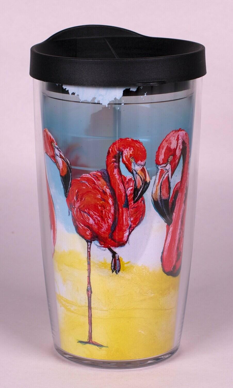 Flamingo Tervis Tumbler 16 oz.