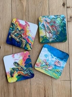 Coasters Bright Color Set