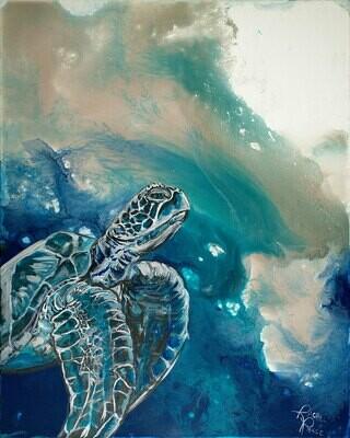Champagne Sea Turtle 1
