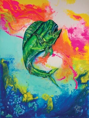 Technicolor Mahi Mahi print
